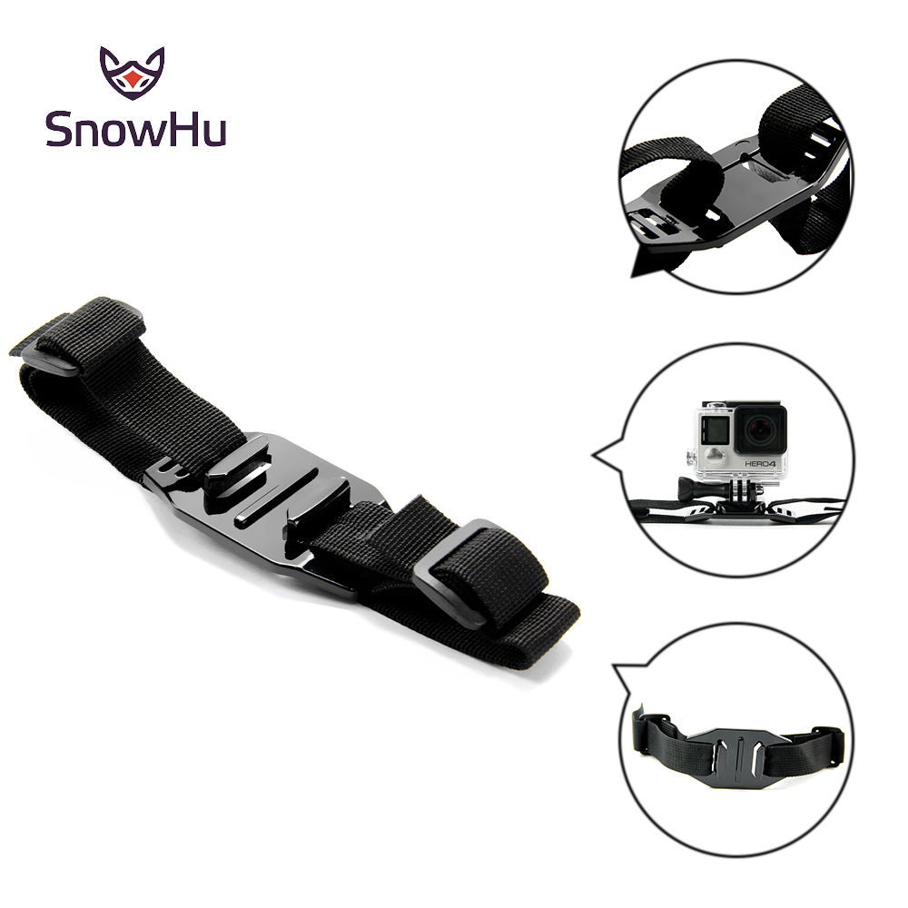 SnowHu for Gopro Accessory Head Adapter Strap Belt for Go Pro Mount Holder Helmet For Gopro Hero 7 6 5 4 3+ xiaomi yi sjcam GP04 shoot aluminum alloy handheld stabilizer for gopro hero 7 6 5 black xiaomi yi 4k lite sjcam sj7 eken h9 go pro hero 6 accessory