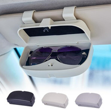 Car Sun Visor Sunglasses Holder Accessories ABS glasses Box Storage Boxes for Tesla MODEL S X 3 Y