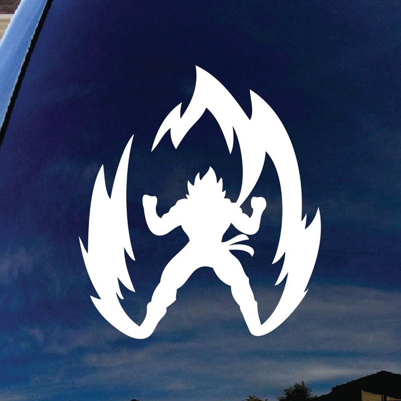 Super Saiyan Goku Dragon Ball Z Die Cut Vinyl Decal For Window Car Truck NoteBook Virtually Any Hard, Smooth Surface 5