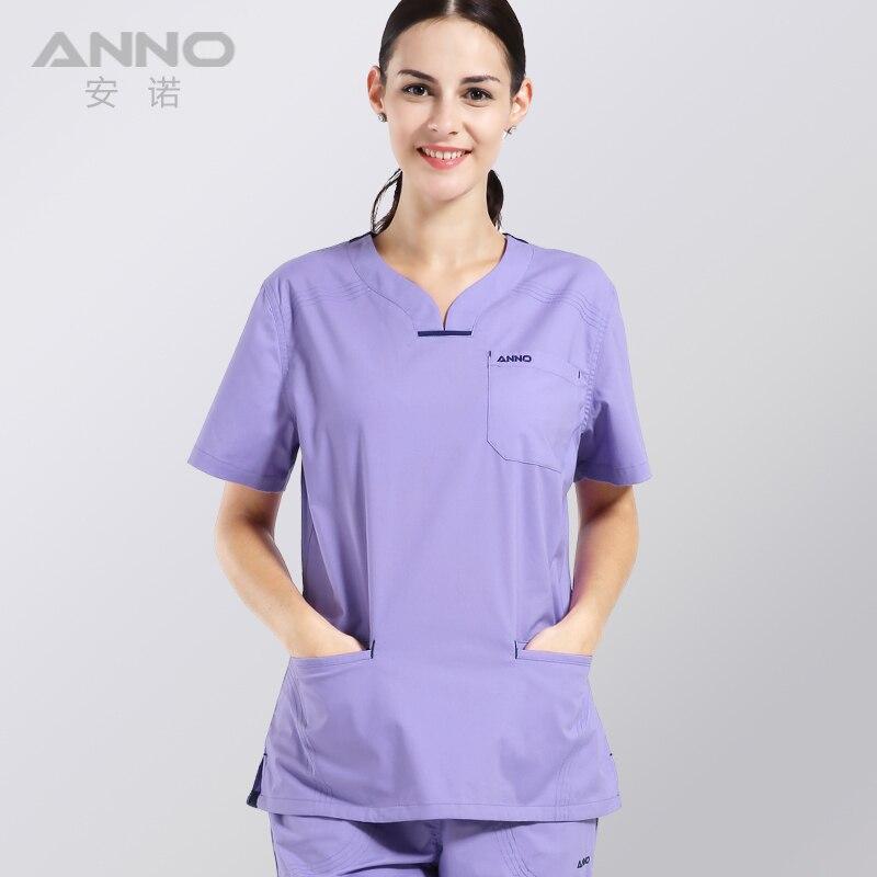 summer women's clothing medical hospital scrubs nurse uniform dental clinic and beauty salon fashion design slim fit