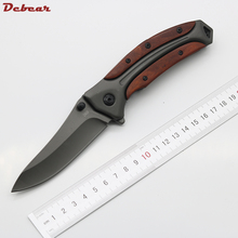 Dcbear Hunting Pocket Knife 440C Steel Best Folding Knife  Hardness 58HRC Tactical Knife Titanium Blade