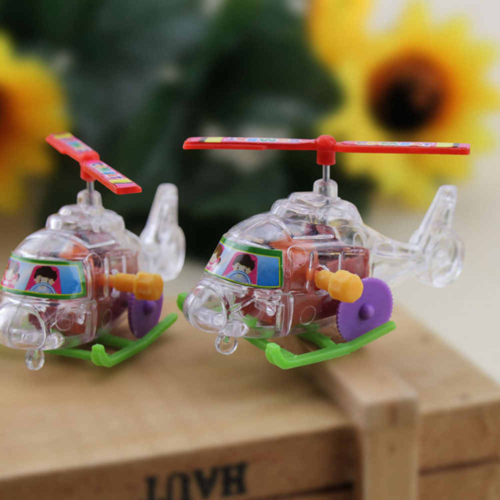 Colour Clockwork Aircraft Plane Wind-Up Toy Home Flying Children Cute Creative Funny