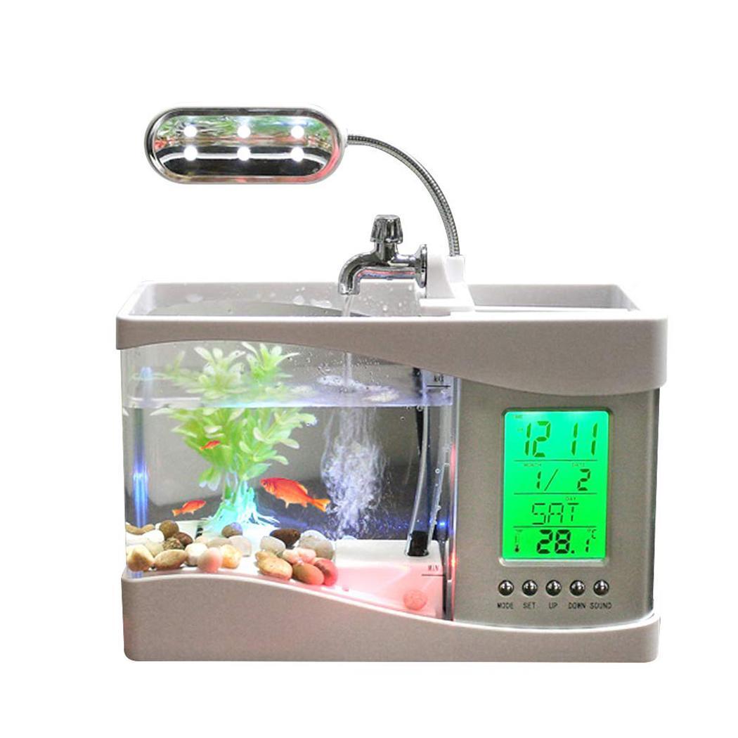 USB Mini Aquarium Aquarium tortue réservoir blanc, noir écologie Goldfish Tank 1.2 kg