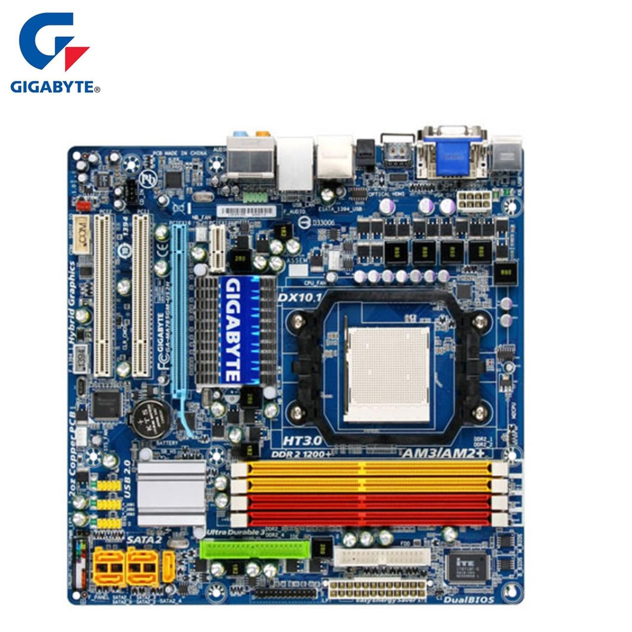 Pour AMD AM2/AM2 +/AM3 Gigabyte GA-MA785GM-US2H Carte Mère 785G DDR2 16 GB MA785GM US2H De Bureau Carte Mère MA785GM-US2H Utilisé