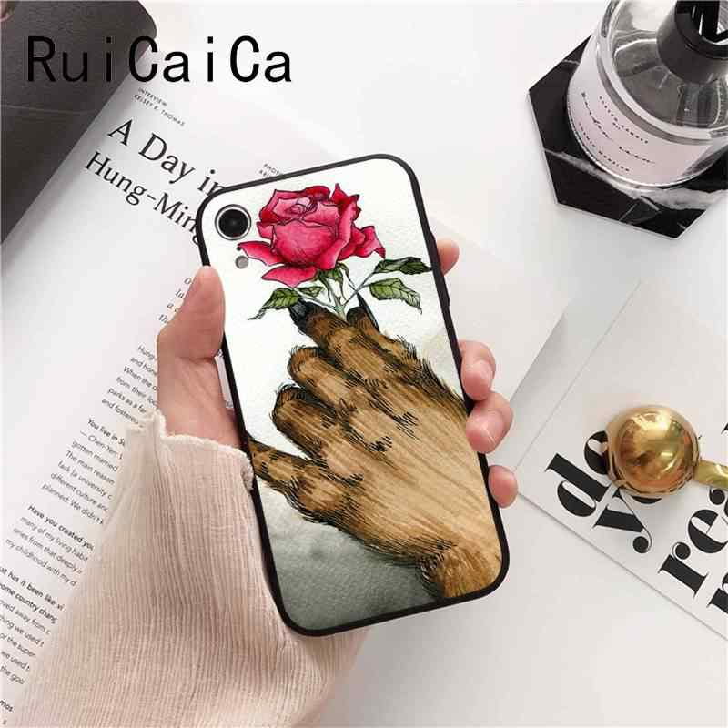 Ruicaica ความงามและ Beast Rose TPU ซิลิโคนโทรศัพท์กรณีครอบคลุมสำหรับ iPhone X XS MAX 6 6 s 7 7 plus 8 8 Plus 5 5 S SE XR