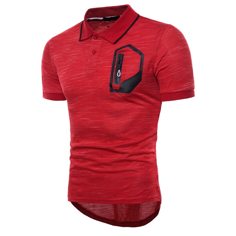 BINHIIRO Poloshirt Men Casual Solid Cotton Breathable Slim Button   Polo   Shirts Short Sleeve Men Black Soli Pocket   Polo   Shirt Men