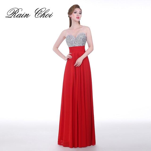 Сексуальные красные вечерние длинные платья