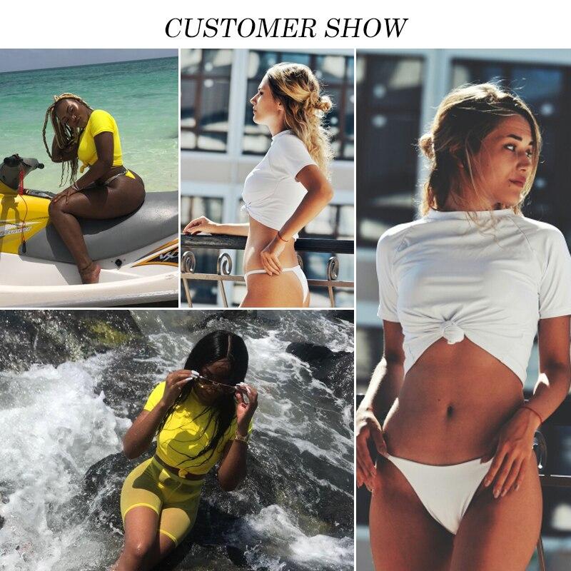 HTB13wM0XJzvK1RkSnfoq6zMwVXaI Knot crop top bikini 2019 Leopard swimwear women bathers Yellow push up swimsuit female T-shirt thong bikini sexy bathing suit
