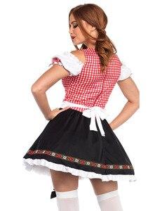 Image 2 - Женский костюм октоверфеста, крестьянское платье для свадьбы, вечеринки, Косплея