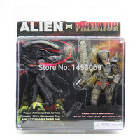 משלוח חינם NECA Alien VS Predator Tru Exclusive 2-PACK MVFG036 PVC פעולה איור צעצוע