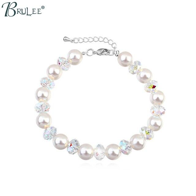 2017 New Fashion Pearl from Swarovski Bracelet Water Drop Shape Bradawl Luxury Bangles Women Romantic Jewelry Wholesal