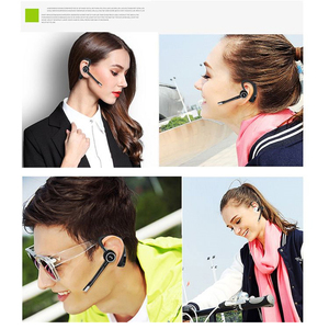 Image 5 - M&J wireless bluetooth headphone Handsfree business bluetooth headset earphone with mic voice control for sports noise canceling