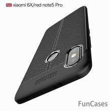 For Xiaomi Redmi Note 5 Pro Case Xiaomi Mi 6x Cover Anti-Skid Original Slim Armor TPU Silicone Phone Case For Xiaomi Mi6 Cover(China)