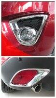 Frente chrome luz de nevoeiro luz traseira capa guarnição para mazda CX 5 cx5 2012 2014|light trim|trim cover|fog light trim -