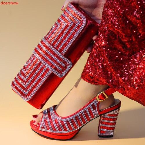 Bolsos Fiesta Niceshoe Selllingshoes Nigeria Boda rojo A Con Negro Caliente De Zapatos plata azul Bolsa Juego Y Doershow Hxn1 Encuentro oro 6 Para OSxqtn68