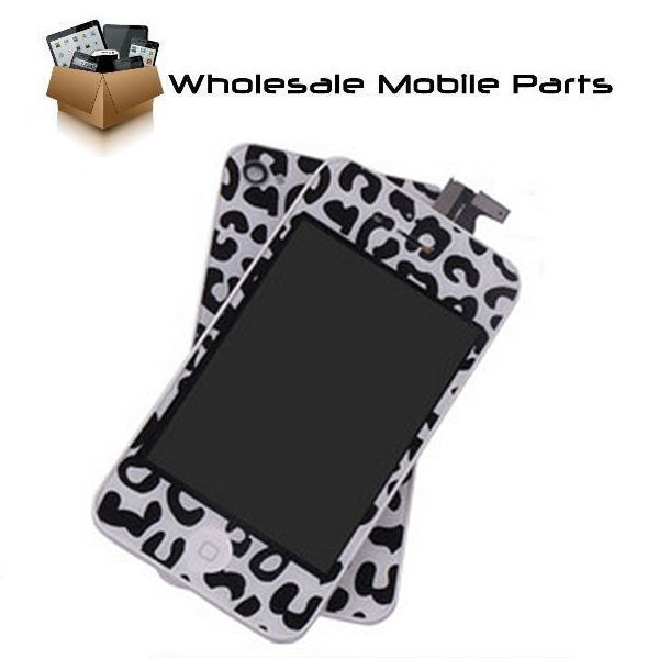 Wholesale-Replacement Leopard print LCD Touch Screen Digitizer Full Assembly For iPhone 4G Verzon CDMA
