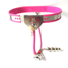 купить New Invisible female chastity belt stainless steel defecate hole lock restraints chastity Device Bondage Bdsm sex toys for women по цене 976.32 рублей