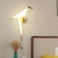 Modern Creative Design Wall Lamp For Bedroom Nordic Bird Wall Light Living Room Origami LED Wall Lamp Beside Lights