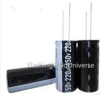 Free shipping 50PCS 220UF450V 18*50 DIP 220Uf 450V Aluminum Electrolytic Capacitor