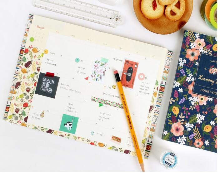 Colorful floral pattern agenda with pvc cover 176 pages 12.5*18.5cm undated agenda Korean fashion 2017 stationery gift tms320f28335 tms320f28335ptpq lqfp 176