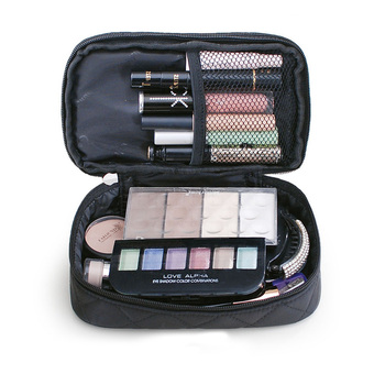 Brand organizer cosmetic bag double waterproof Makeup bag travel organizer cosmetologist case multi-function storage bag QE128 5
