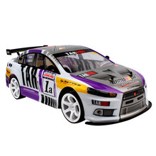 1:10 70km/h RC Car 4WD Double Battery High Power LED Headlig