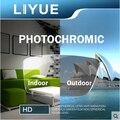 LIYUE spectacles lenses 1.56 EMI coating photochromic lens grey color brown color transition optical lenses Aspheric lenses