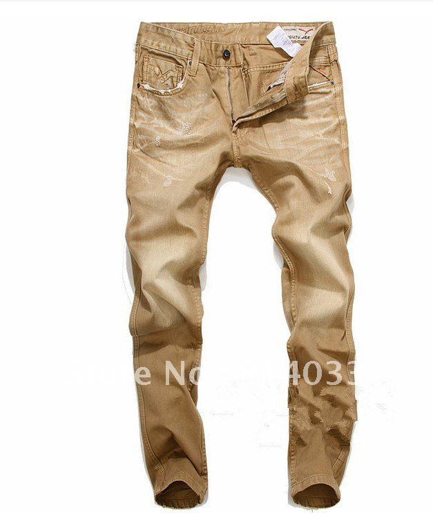 Aliexpress.com : Buy Free Shipping 100% Cotton Denim Jeans Men ...