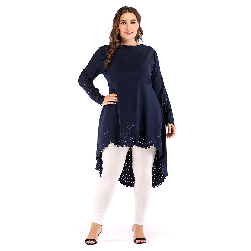 Fashion Hollow Out Dresses Women Loose Big Size Long