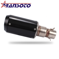 RANSOTO Motorcycle scooter Muffler tube performance modified carbon fiber exhaust pipe Silence
