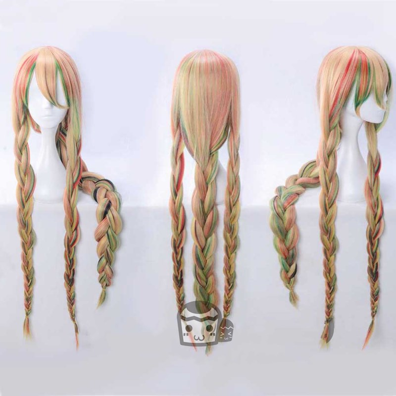 New Anime Houseki no Kuni Sphene Cosplay Wigs Land of the Lustrous Country of Jewels TV Anime Costume Braids Ponytails
