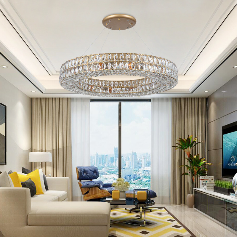 Gold American Style Retro Chandeliers Led Crystal Lighting For Living Room Bedroom Hall Hotel Restaurant Dining Room Fashion|Chandeliers| |  - title=