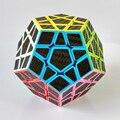 Zcube 3x3x3 Megaminx Cube Magic Speed Puzzle Cubos De Jogo Brinquedos Educativos para As Crianças Kids-Carbono fibra Adesivo