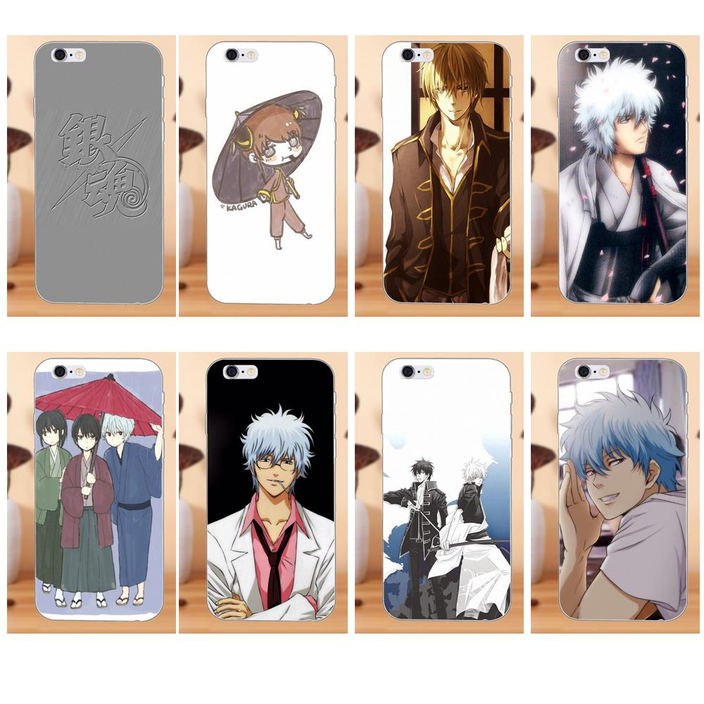 Soft TPU Fashion Case Cover For Samsung Galaxy Note 2 3 4 5 8 9 S3 S4 S5 S6 S7 S8 S9 mini Edge Plus Japanese Anime Gintama