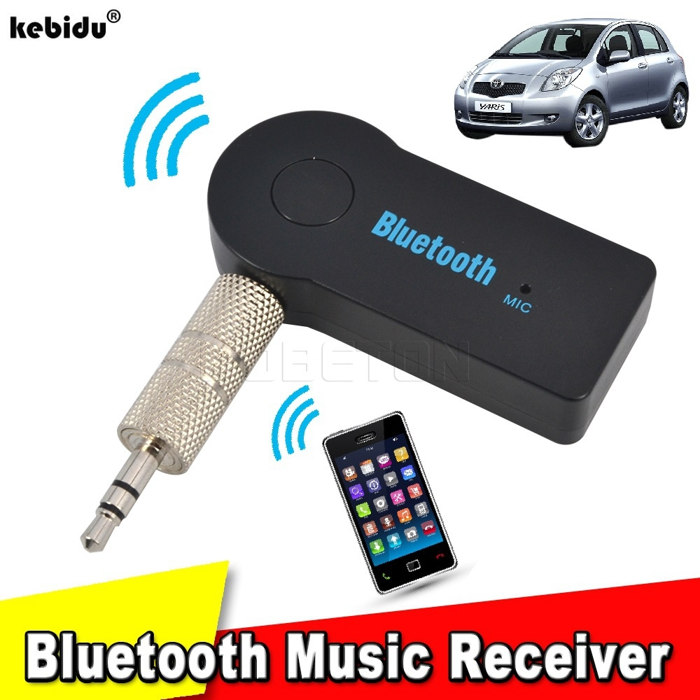 Kebidu New 3.5mm Streaming Car A2DP Wireless Bluetooth AUX Audio Music Receiver Adapter
