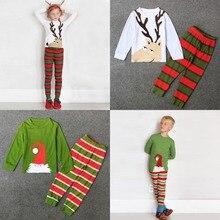 Santa Claus Reindeer Stripe Pajamas