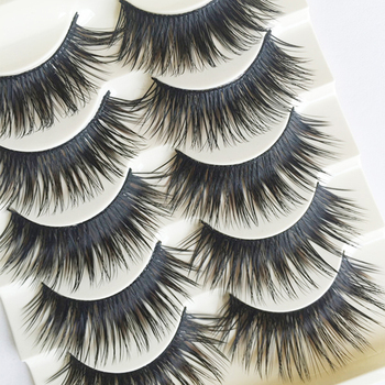 5 Pairs New Fashion Women Handmade Black False Eyelashes Natural Soft Thick Long Voluminous Fake Lashes Makeup Tool Beauty False Eyelashes