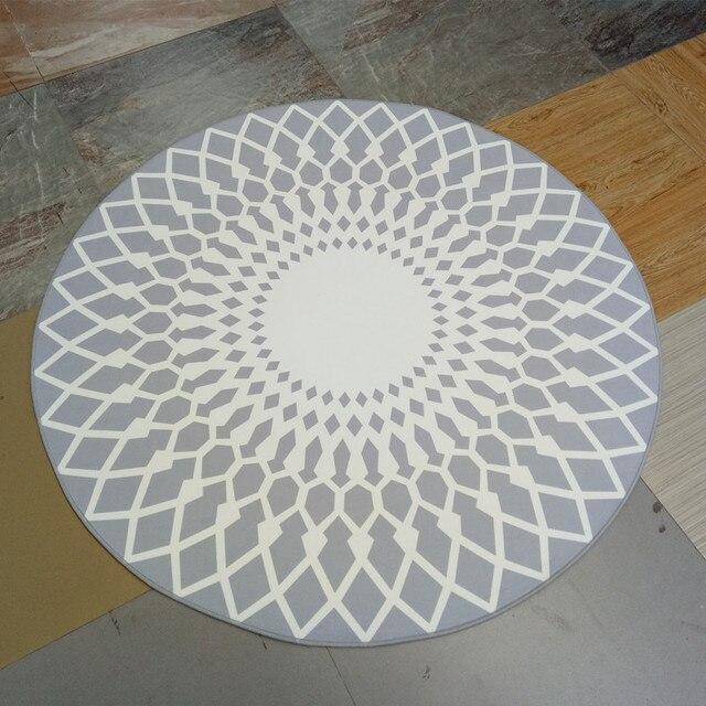 korte zwart wit moderne vloerkleed matten ronde voor woonkamer decoratie tapijt geometrie stijl. Black Bedroom Furniture Sets. Home Design Ideas