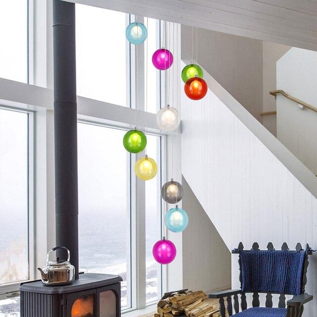Moderne Restaurant Führte Bunte Glas anhänger ligtht Ball Duplex ...