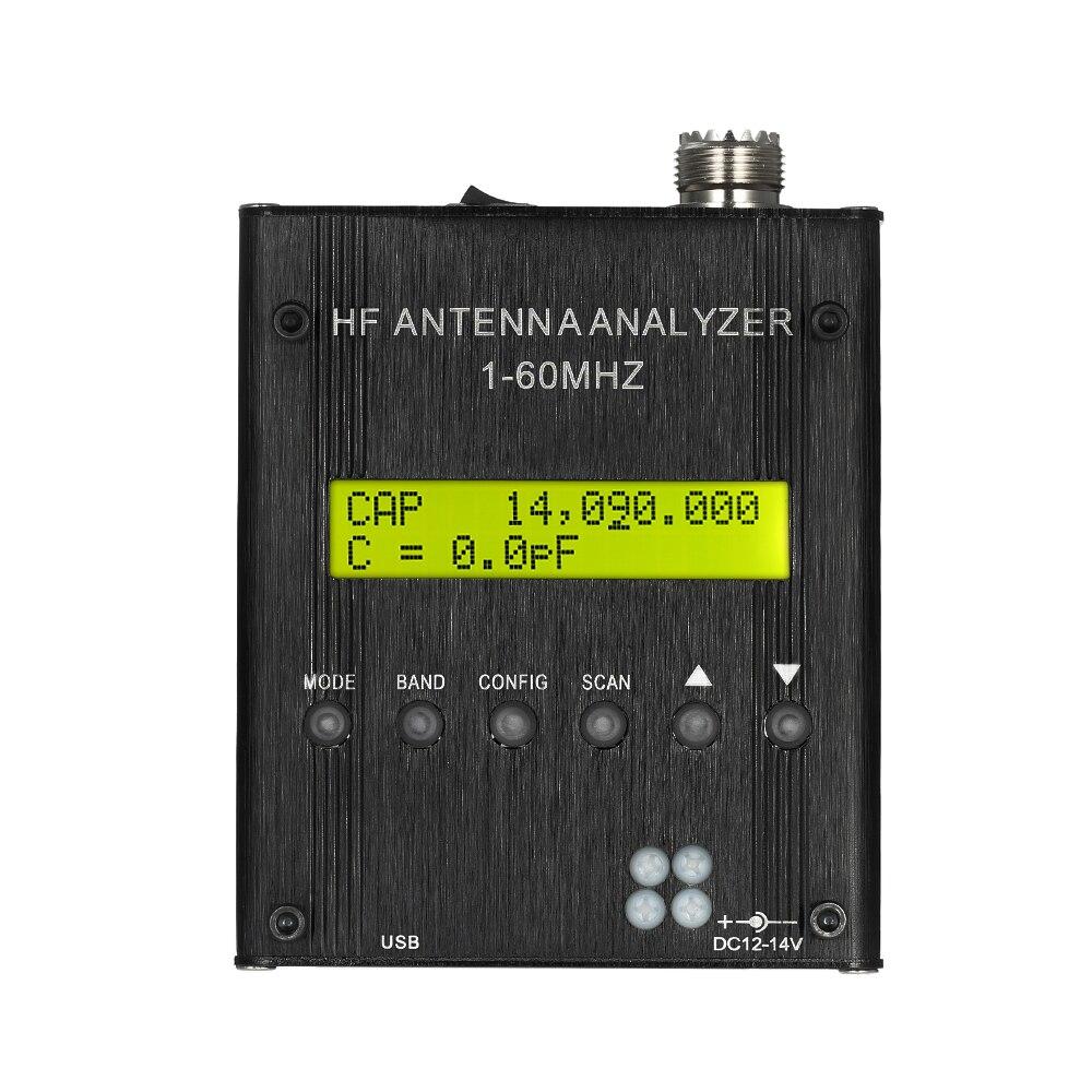 MR300 Digital Shortwave Antenna Analyzer 1-60MHz RF SWR impedance(resistance+reactance) capacitance inductance teste for Ham mr300 digital shortwave antenna analyzer meter tester 1 60mhz rf swr for ham radio with bluetooth