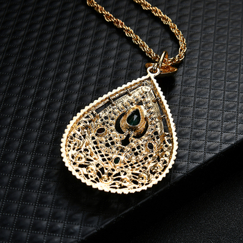 Women Middle East Arab Moroccan-Style Rhinestone Charm Pendant Necklace Gift Hot 2