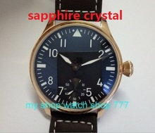 Sapphire Crystal PARNIS ST3621 6498 Mechanical Hand Wind movement mechanical watches High quality men swatch plating