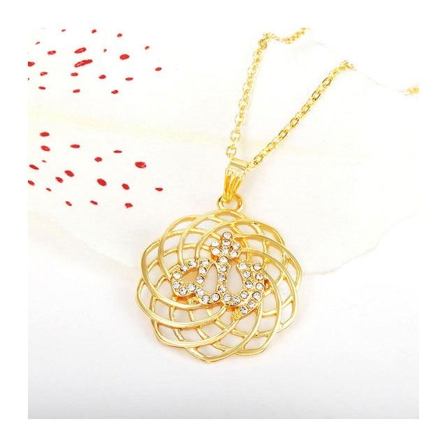 islam gorjuss allah muslim islamic fine jewelry necklace Fashion Gold Color Necklaces Pendants pendant fashion crystal jewellery 2