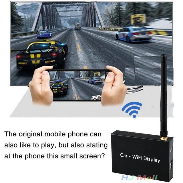2.4 Г Автомобилей, Wi-Fi Дисплей Зеркало Ссылка Box Miracasst Airplay DLNA HDMI для Android iOS