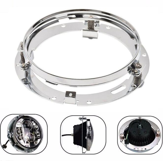 7 Daymaker HID LED Headlight Light Mounting Ring Bracket For Harley Touring