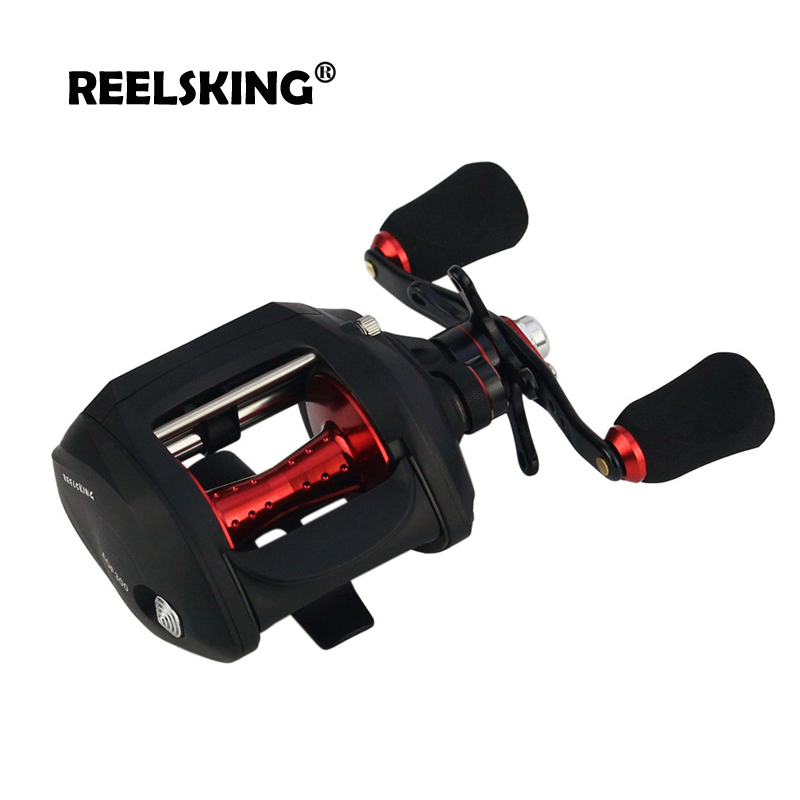 REELSKING 12+1BB 7.0:1 HIGH Speed Baitcast Reel 7kg MAX DRAG Right or Left Hand reel Centrifugal Brake fishing reel yumoshi 12 1bb left right hand halleluyah wheel fishing reel metal wire cup speed ratio 6 2 1 centrifugal magnetic brake