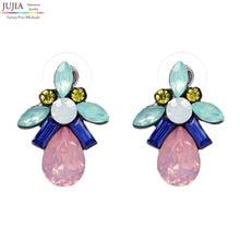 New good quality earring Statement Trendy Jewelry Elegant Shiny Resin Stone Stud Earrings for women Wholesale earring