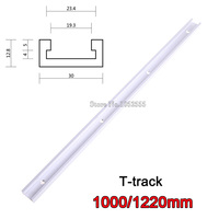 High Quality 4PCS/lot 1000mm/1220mm T tracks T slot Miter Track Jig Fixture Slot For Router Table Band Saw T tracks E867