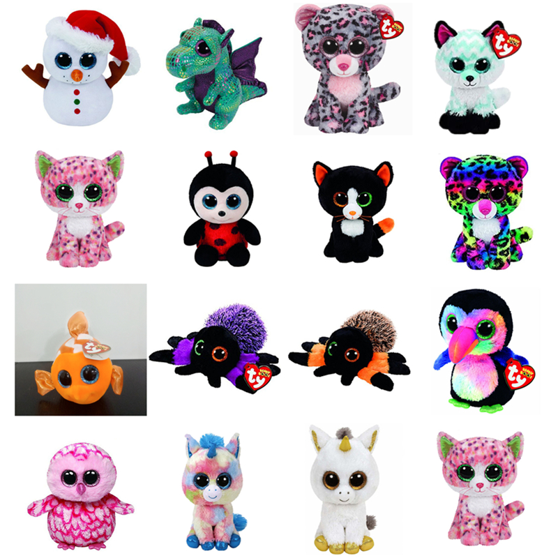 5a4f3baef7d Ty Beanie Boos 6″15cm Scoop Snowman Giraffe Owl Spider Leopard Unicorn Plush  Stuffed Animal Collectible Soft Big ...