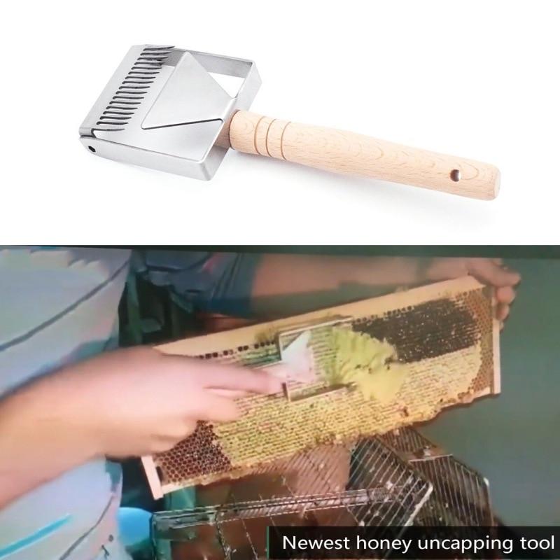 New Steel Bee Keeping Honey Comb Beekeeping Tine Uncapping Fork Hive Tools  RL!Y